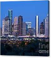 Houston Night Skyline Canvas Print