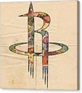 Houston Rockets Logo Art Canvas Print