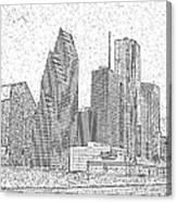 Houston Skyline Abstract Canvas Print