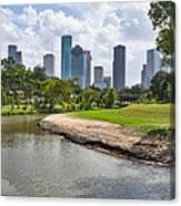 Houston Skyline On The Bayou Canvas Print