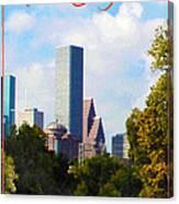 Houston The Bayou City Canvas Print