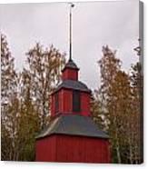 Houtskari Church Clock Tower Canvas Print