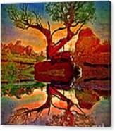How One Tree Becomes Two Canvas Print