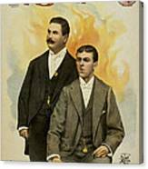 Howard And Stevens In Their Illustrated Songs Canvas Print