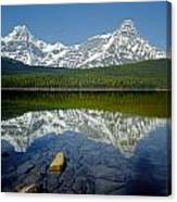 1m3643-howse Peak, Mt. Chephren Reflect Canvas Print