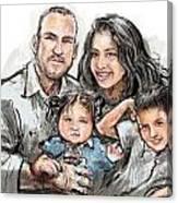 Hoy Family Canvas Print