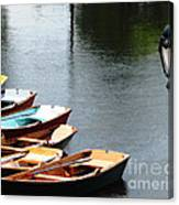 Hoyt Lakes Rowboats In Delaware Park Buffalo Ny Oil Painting Effect Canvas Print