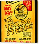 Hoyts A Texas Steer Canvas Print