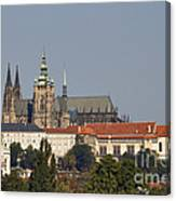 Hradcany - Cathedral Of St Vitus On The Prague Castle Canvas Print
