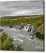 Hraunfossar Waterfall In Iceland Canvas Print