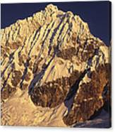 Mt Huandoy Sunrise Cordillera Blanca Canvas Print