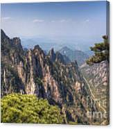 Huangshan Mountain Chinese Famous Landscape Canvas Print