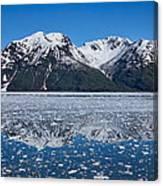 Hubbard Glacier Mountain Reflection Canvas Print