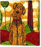Hubbs Art Folk Prints Whimsical Animals Dog Pet Walk Italy Tuscany Country Canvas Print