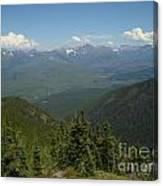 View Of The Rockies From Huckleberry Mountain Glacier National Park Canvas Print