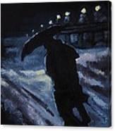 Huddling Through The Storm Canvas Print