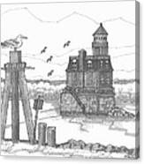 Hudson-athens Lighthouse Canvas Print