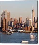 Hudson River And Manhattan Skyline I Canvas Print