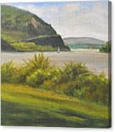 Hudson River At Cold Spring Canvas Print