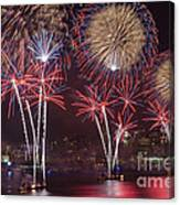 Hudson River Fireworks Viii Canvas Print