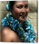 Hula Blue Canvas Print