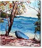 Hull Bay Boat Canvas Print