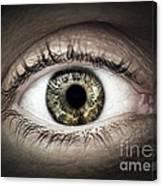 Human Eye Macro Canvas Print