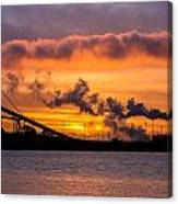 Humboldt Bay Industry At Sunset Canvas Print