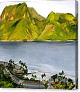 Humid Day In Pago Pago Canvas Print
