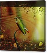 Hummingbird At The Pond Canvas Print