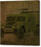 Humvee Midnight Desert  Canvas Print