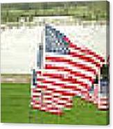 Hundreds Of American Flags September 11 Memorial In Saint Louis Missouri Canvas Print
