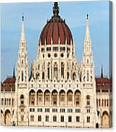 Hungarian Parliament Building In Budapest Canvas Print
