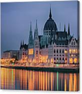 Hungarian Parliament Dawn Canvas Print