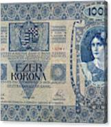Hungary Banknote, 1902 Canvas Print
