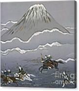Hunt At Mount Fuji Canvas Print