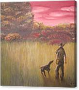 Hunter And Pointer Canvas Print