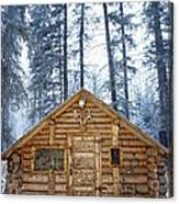 Hunting Cabin In Alberta Canvas Print