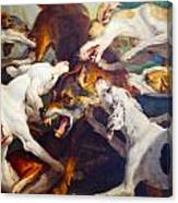 Hunting Dogs Detail 2 Canvas Print