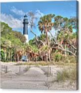 Hunting Island - Beach View Canvas Print