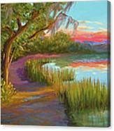 Hunting Island Sunset Canvas Print
