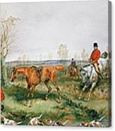 Hunting Scene Canvas Print