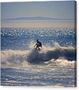 Huntington Beach California Surfer Canvas Print