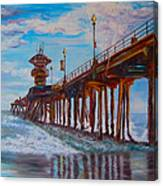 Huntington Beach Pier 2 Canvas Print