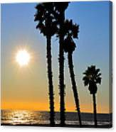 Huntington Beach Sunset Canvas Print