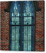 Stained Glass Arch Window Canvas Print