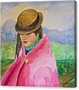 Huri The Andean Girl Canvas Print