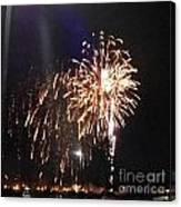Huron Ohio Fireworks 2 Canvas Print