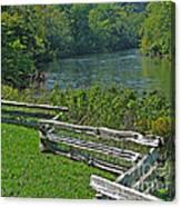 Huron River Bend Canvas Print