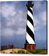 Hurricane Coming At Cape Hatteras Lighthouse Canvas Print